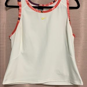Nike Coral, Pink, and Purple Dri-Fit Tank Top